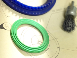 Perfluoroelastomer is a rubber version of PTFE.