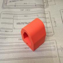 Silicon rubber moulded bumper